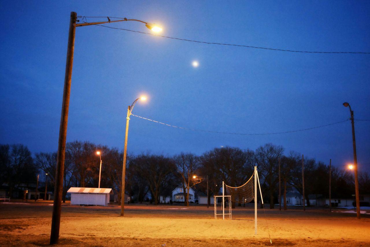 Beach Volleyball At Night