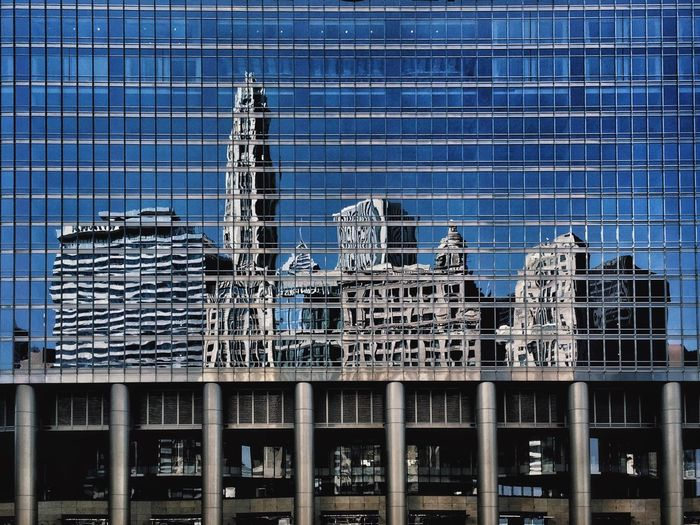 Reflection of buildings