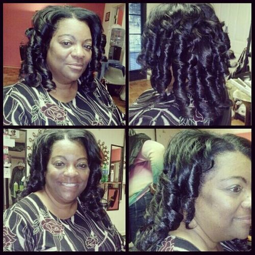 WASH TIGHTENING. && CURLS $25... HER SMILE TELL IT ALL