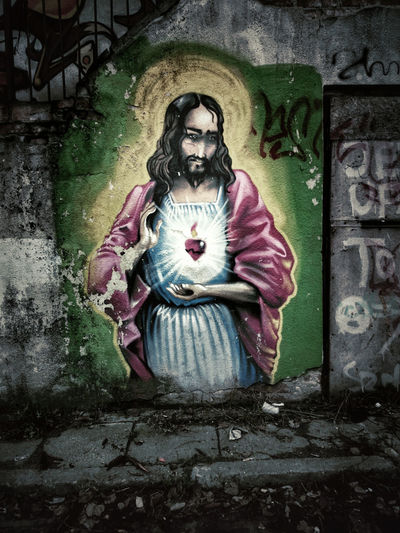 Targowa Warsaw Jesus street art Graffity First Eyeem Photo