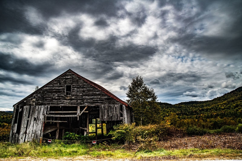 Barn Abandoned Agricultural Building Architecture Building Building Exterior Built Structure Cloud - Sky Day Field Land Landscape Nature No People Old Outdoors Plant Residential District Sky