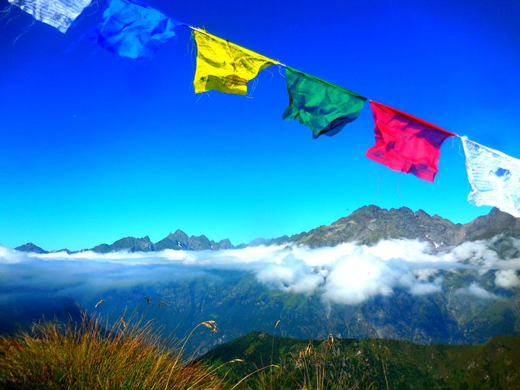 Beauty In Nature Blue Blue Sky Blue Sky And Clouds Clear Sky Flag Landscape Lizzola -BG- Italy Low Angle View Mount Sasna Mountain Nature No People Outdoors Peace Sasna Scenics Sky Tibetan Prayer Flags Neighborhood Map The Great Outdoors - 2017 EyeEm Awards