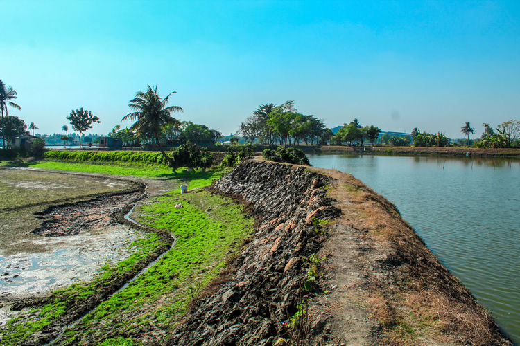 The Bueatyfull Landscapes. Water Tree Sky Countryside Idyllic Irrigation Equipment Remote Calm Tranquil Scene Agricultural Equipment Horizon Over Water Shore Growing Stream Grassland Scenic View Non-urban Scene Lakeside Rocky Mountains Foreground Scenics Fishing Net Tranquility Sprinkler
