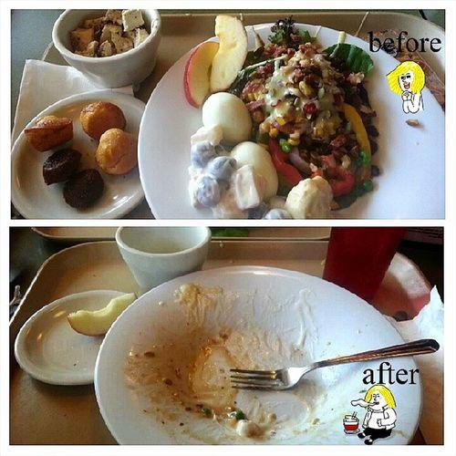 From the salad bar at JasonsDeli Nom nom nom. Yum Foodporn foodie swye