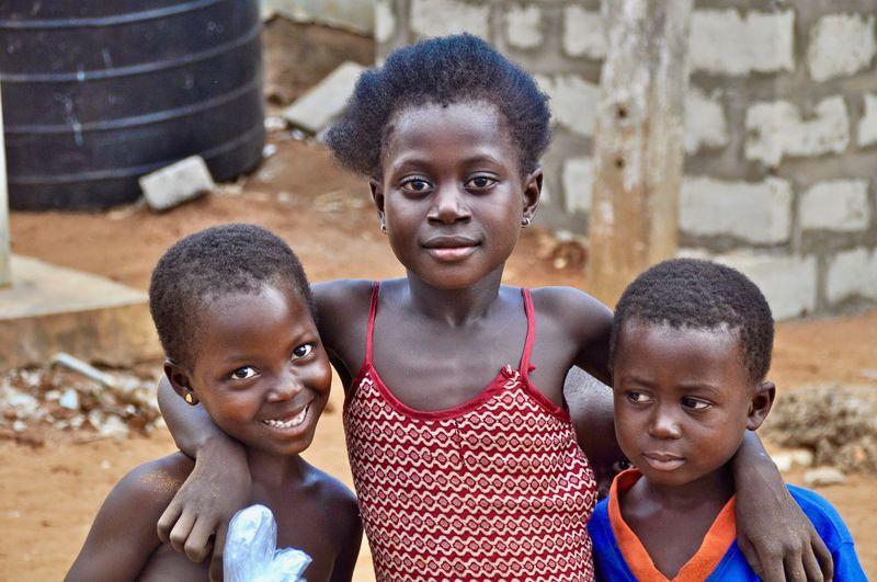Portrait of cheerful siblings