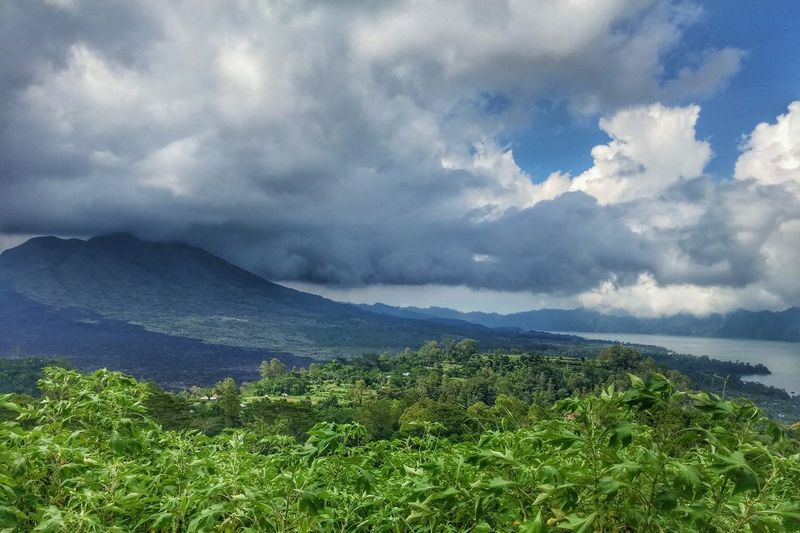 Landscapes With WhiteWall Sky And Clouds Nature_collection EyeEm Nature Lover Landscape_Collection Landscape_photography Mount Batur Big Clouds Volcano Blue Wave
