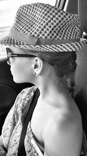 Hat Sun Hat Real People One Person Young Adult Young Women Beautiful Woman Lifestyles Portrait Day Close-up Outdoors People Live For The Story