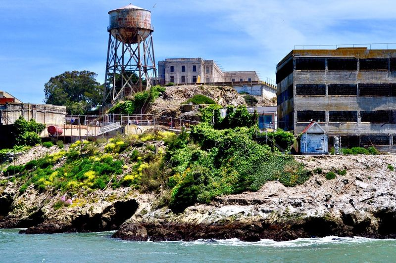 Alcatraz 😬 Built Structure Architecture Building Exterior Water Sky Nature Plant Residential District No People Tree Cloud - Sky Outdoors Sunlight Growth River Sport City Day Building Water Tower - Storage Tank Old Architecture Plant Nature Waterfront City Connection Tree Water Conservation Bridge