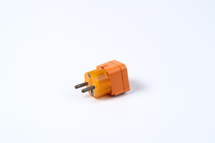 Cable Color Connect Electric Connection Converter Electric Electric Converter Electric Slot Electrical Engineer Engineering Equipment High Voltage Orange Slot Voltage Watt White Background Studio Shot Copy Space Indoors  Still Life Close-up Cut Out Single Object No People Plastic Technology Orange Color Safety Wood - Material High Angle View Toy Pattern Communication Capsule Electrical Component