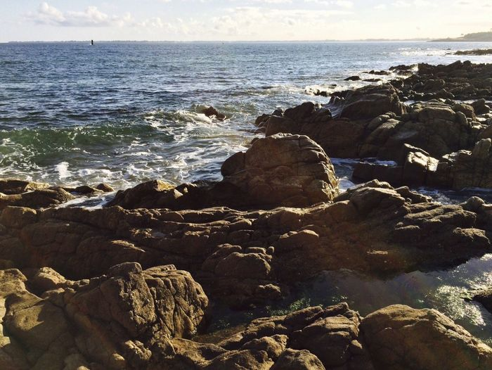 Sea Water Rock Beach Beauty In Nature Land Solid