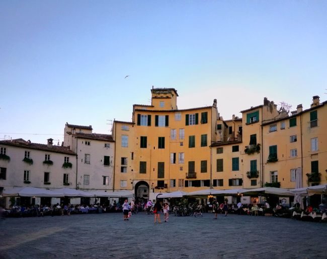 Lucca Piazza Anfiteatro Home Colorfull Life Life Architecture Building Exterior City Travel Destinations Built Structure Outdoors Sky Relaxing Time Shotoftheday EyeEm Best Shots Tuscany Italy Picoftheday EyeEmNewHere Architecture History EyeEm Selects Your Ticket To Europe