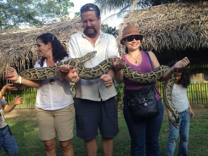 Kids Playing Zoo Animals  Zoo Kids Having Fun Winter Tropical Paradise Jungle Nuevo Vallarta HappyBirthday Snake