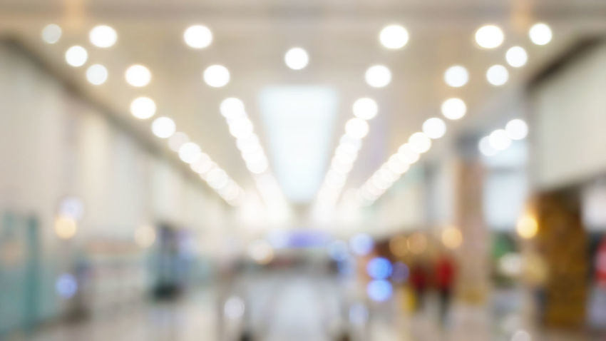 Light Airport Background Blur Bokeh Defocused Indoors  Mall Shpping