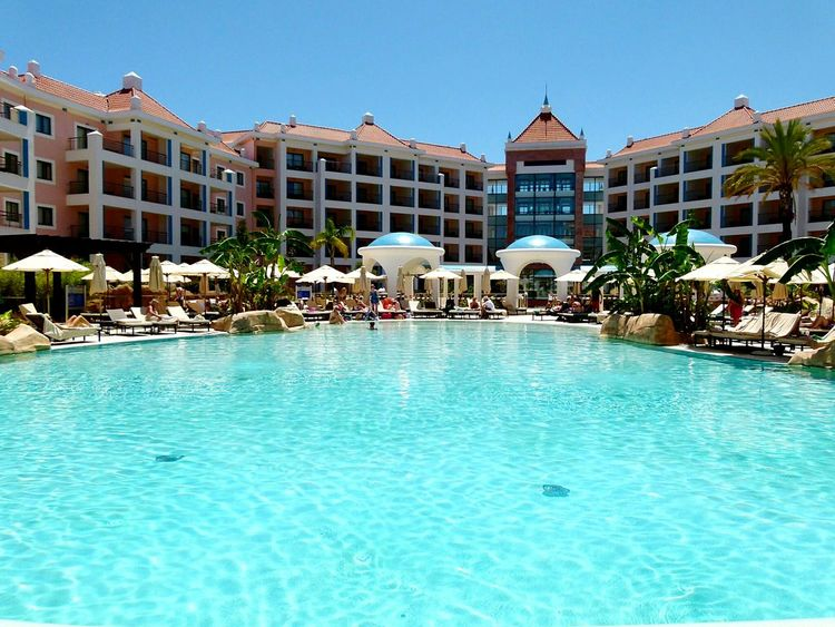 Portugal Hotel Swimming Pool Pools  Swimming Holiday Vacation Relaxing In The Sun Hilton