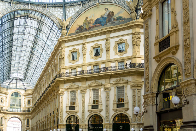 Arch Architectural Column Architecture Building Exterior Built Structure City Day Galleria Vittorio Emanuele II History Indoors  Low Angle View No People Travel Destinations Window