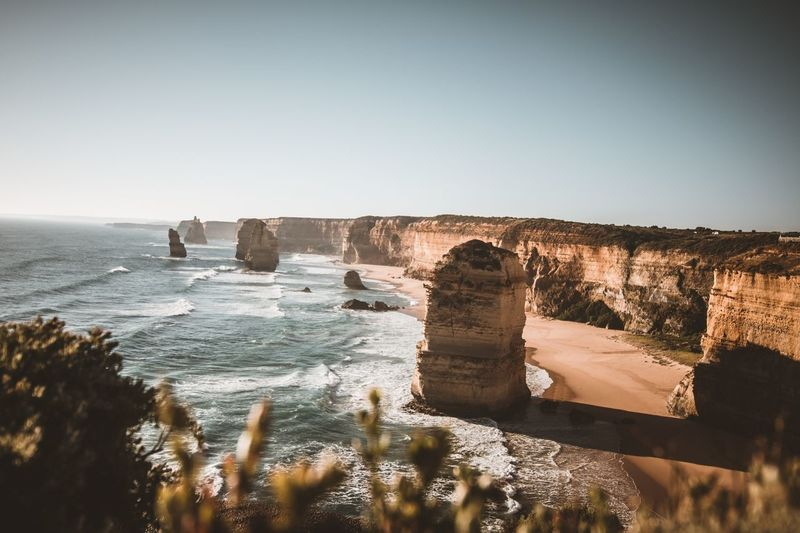 Twelve Apostel Twelve Apostles Landscape Water Sea Sky Scenics - Nature Clear Sky Nature Beauty In Nature Beach Land Rock No People Outdoors Horizon Over Water Day Sunlight Horizon