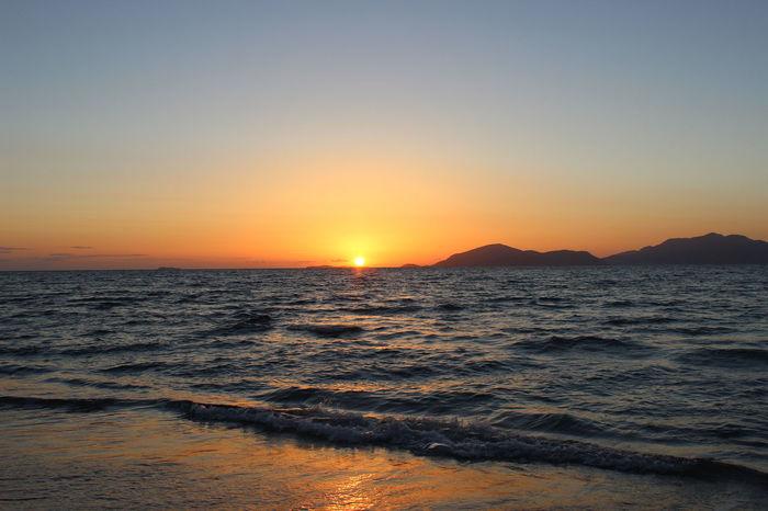 Sun Set Reflection Mediterranean Sea Tam Tam