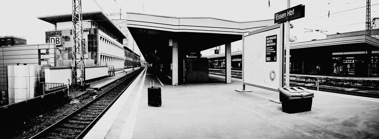 everything you own in a little black case Bronski Beat Essen Germany Jimmy Sommerville PanoramicTrain Station Urban Streetphotography Black And White Public Transportation