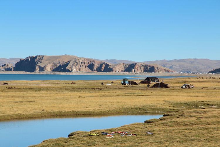 Scenic view of namtso lake