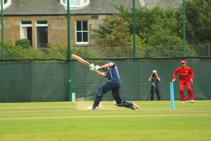 Cricket Day Edinburgh Enjoyment Full Length Grass Green Color HongKong Lawn Leisure Activity Motion Outdoors Scotland Sport Vitality The Color Of Sport