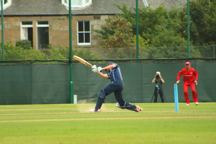 Cricket Day Edinburgh Enjoyment Full Length Grass Green Color HongKong Lawn Leisure Activity Motion Outdoors Scotland Sport Vitality The Color Of Sport