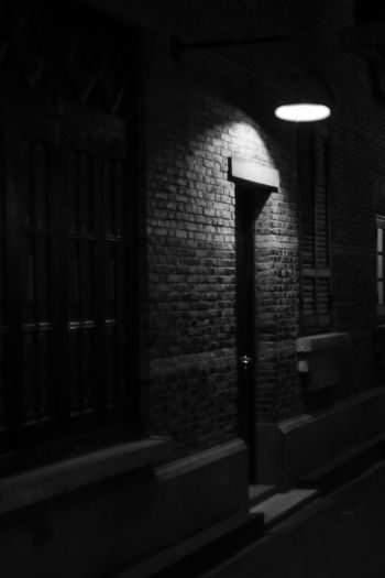 #photography No People Built Structure Architecture Lighting Equipment Street Street Light Building Exterior Night Light Electric Lamp Dark Shadow Outdoors Illuminated Window Wall - Building Feature City Wall