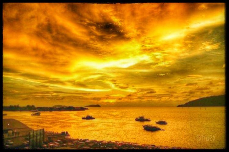 The Eye Sea Sunset Nature No People Beauty In Nature Sky Water Outdoors Scenics Tranquil Scene Tranquility Beach Day