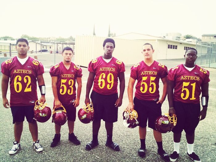 Front Offensive of line #62 #53 #69 #55 #51 #Aztecs #footballseason Aztecs Football