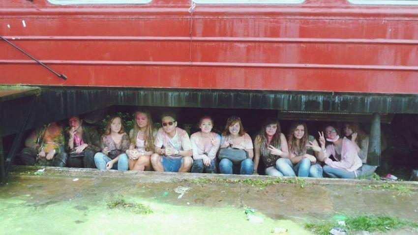 Festiwalkolorow Wroclaw Enjoying Life Funny Under the train :D