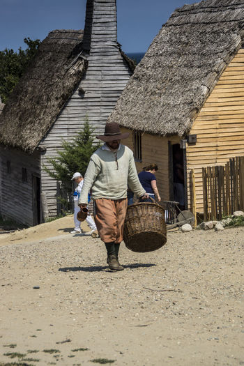 History Plymouth Plantation EyeEmNewHere Massachussets Pilgrim One Person Real People Built Structure Walking Architecture Labor Working People