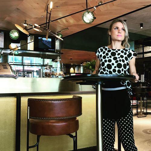 Black And White Portrait Waitresslife Grand Prix Day Hotelcafe