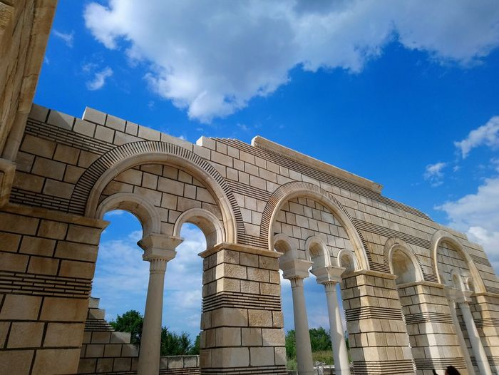 City Blue Place Of Worship History Arch Tree Religion Sky Architecture Building Exterior Ancient Civilization Ancient Old Ruin Architectural Column The Past Ancient History Archaeology