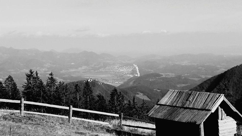 Mountain Mountain Range No People Nature Day Scenics Tree Beauty In Nature Outdoors Sky šaleška kotlina slovenia Black And White Friday