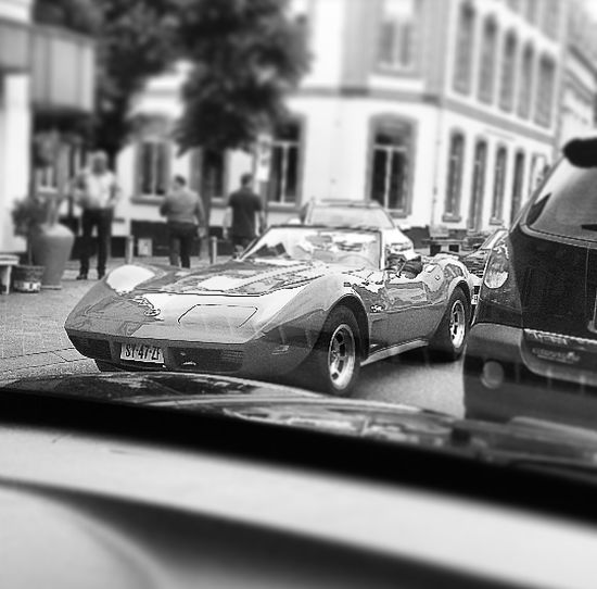 Corvetteweekend CorvetteStingray Corvettesummer Street Photography Streetphotography Valkenburg View From The Car Corvette Corvette In Black And White Fresh On Eyeem  The Week Of Eyeem The Week On EyeEm On The Way