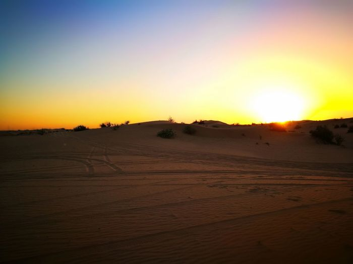 Sunset Beauty In Nature Tranquility Sky Nature Sand No People Desert Outdoors Landscape Arid Climate