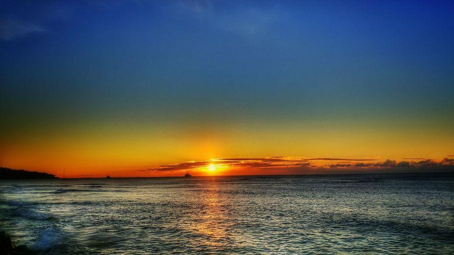 Water Sea Sunset Refraction Beach Nautical Vessel Sun Reflection Orange Color Dramatic Sky
