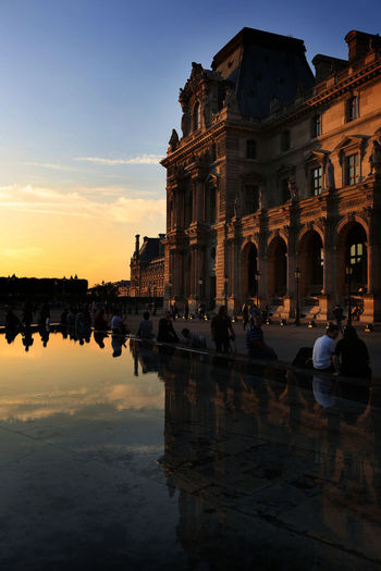 I can sit here whole day :) Photography Traveling Travel Paris TheLouvre Musée Du Louvre Love Sunset