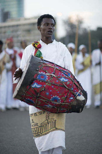 Ethiopia Ethiopian Photography 🇪🇹 Meskel Meskel Festival, Erhiopian Street Music Africa Day Drums Meskel Flower MeskelSquare Musical Instrument Outdoors Traditional Clothing
