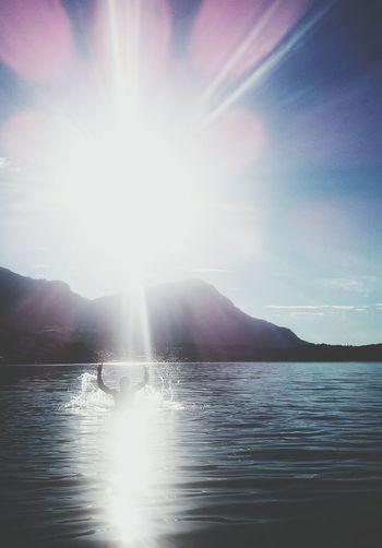 Summer Lake Reflection Landscape