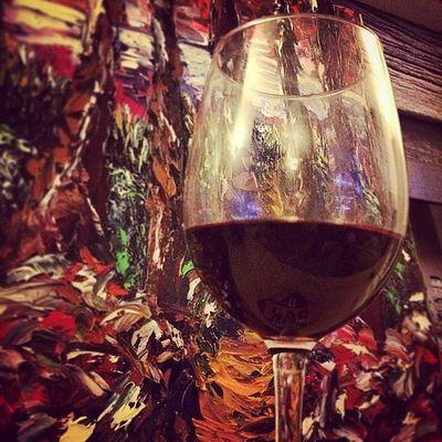 Chemin faisant. Bergerac. Rouge. Huile sur Toile. Wino Winolife Painting Bergerac Instawine