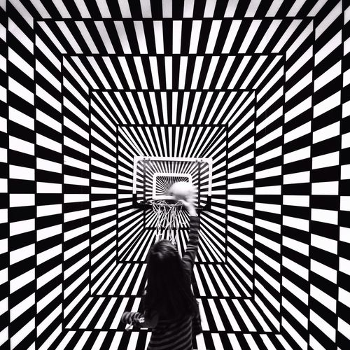 My daughter playing basketball in an illusion room. My Best Photo 2014 IPhoneography IPSPatterns
