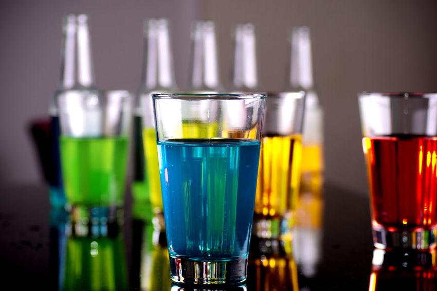 Bar - Drink Establishment Colorfull Drink Drinking Glass Focus On Foreground Freshness Refreshment Still Life