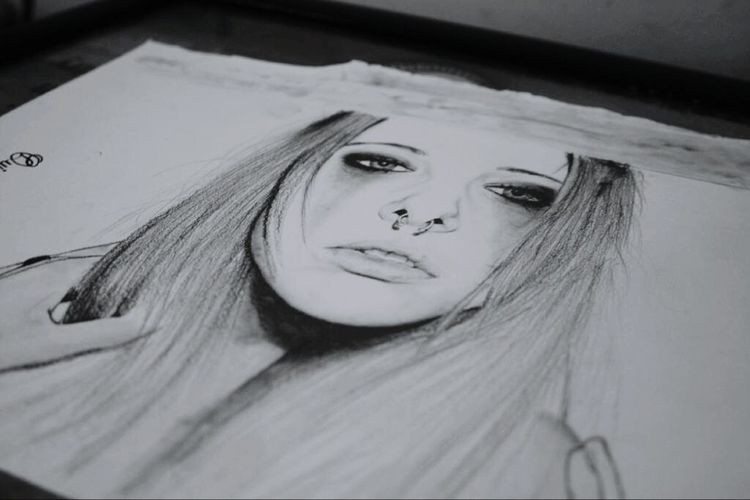 Old drawing. Pencil on paper 22x30, 2011 Drawing Process Drawing ArtWork Art Portrait Draw Portrait Of A Woman Pencil Drawing Septum Artistic