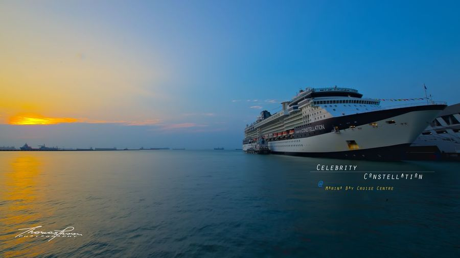Cruise Ship Marina Bay Cruise Centre Nautical Vessel Sea Transportation Water Nature Cruise Ship Sky Beauty In Nature