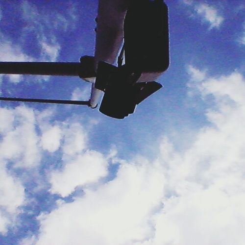 Work view. Sky Low Angle View Cloud - Sky Day Transportation Outdoors No People