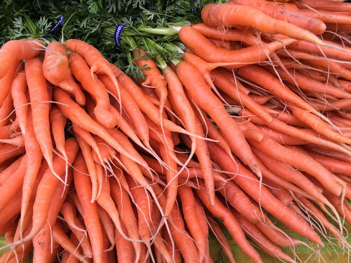 Close-up of carrots for sale