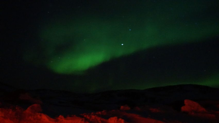 The red light beneath, is the tail lights from my car. Aurora Aurora Borealis EyeEm Best Shots EyeEm Best Shots - Nature Ilulissat Nature Northern Lights The Real Greenland This Is Greenland Auroraborealis