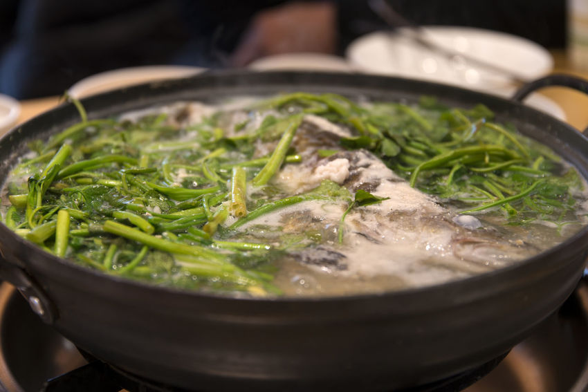 fish stew with water parsley South Korea Water Dropwort Asian Food Boiling Boiling Stew Bowl Close-up Cooking Pan Crockery Fish Stew Food Food And Drink Freshness Healthy Eating Healthy Food Household Equipment Indoors  Japanese Food Kitchen Utensil Meat No People Preparation  Preparing Food Ready-to-eat Selective Focus Stew Stew With Water Parsley Still Life Vegetable Water Celery Water Parsley Wellbeing