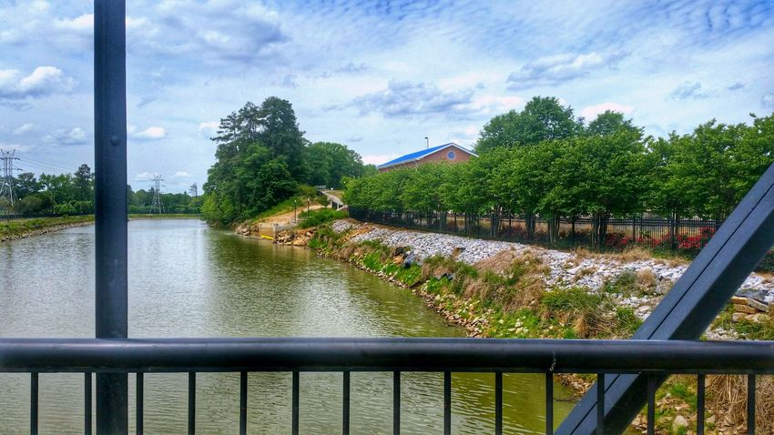 View from the other side of the footbridge ☺ -- The Architect - 2016 EyeEm Awards HDR Hdr_Collection Hdr Edit View Footbridge Bridge Architecture Architecture_collection Built Structure Building Building Exterior Canal Water Water_collection Water Reflections Sky Sky - Clouds Clouds Clouds And Sky Nature Beauty In Nature EyeEm Nature Lover Landscape Landscape_Collection