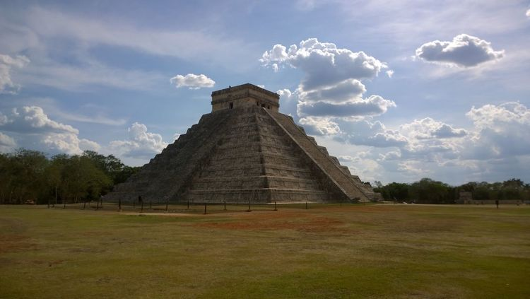 Atmosphere Chichen-Itzá Colors History Maya Mexico No People Pyramid Sky